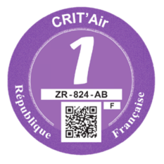 Certificat Crit'Air 1